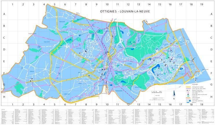 LouvainlaNeuve bike map Maps Pinterest