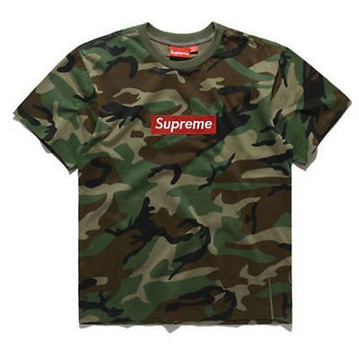 SUPREME Pocket Tee camouflage pattern pocket T-shirt S-XL 3 colours for  choose