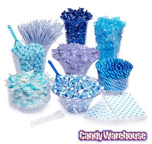 green candy buffet kit 25 to 50 guests blue candy blue candy rh pinterest com candy table kits candy buffet kits for sale