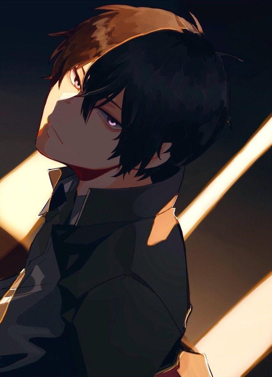 Animeboy Purpleeyes Blackhair Cute Anime Guys Cute Anime Boy Anime Art Beautiful