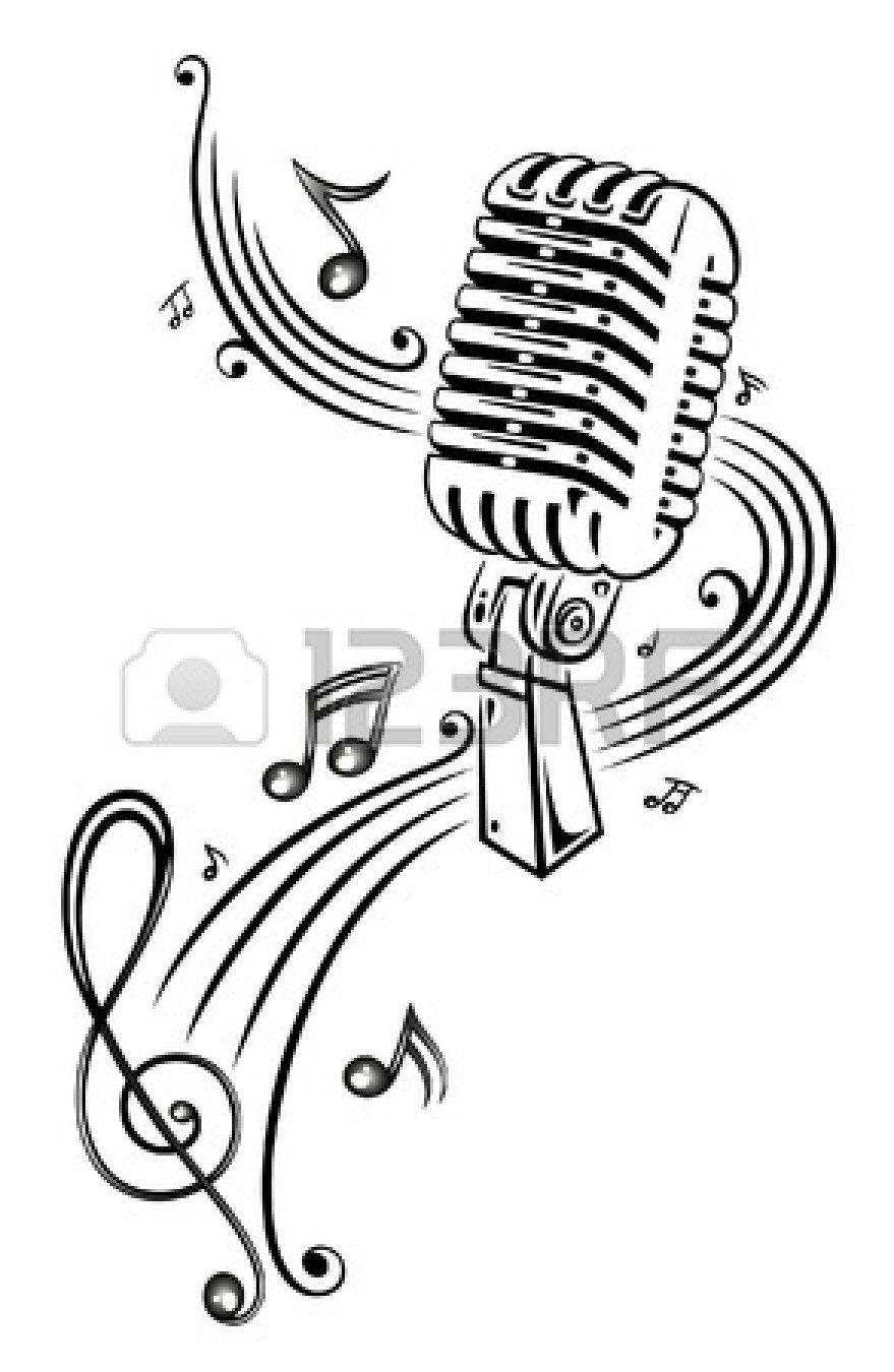 Noten Musik Mikrofon Musiknoten Kunst Musiknoten Musik Tattoo Ideen