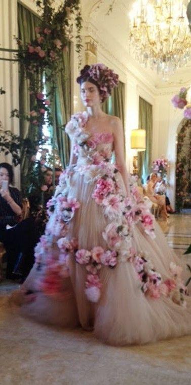 Dolce & Gabbana Alta Moda (Couture) Spring 2014: Floral Explosion ~ Cynthia Reccord
