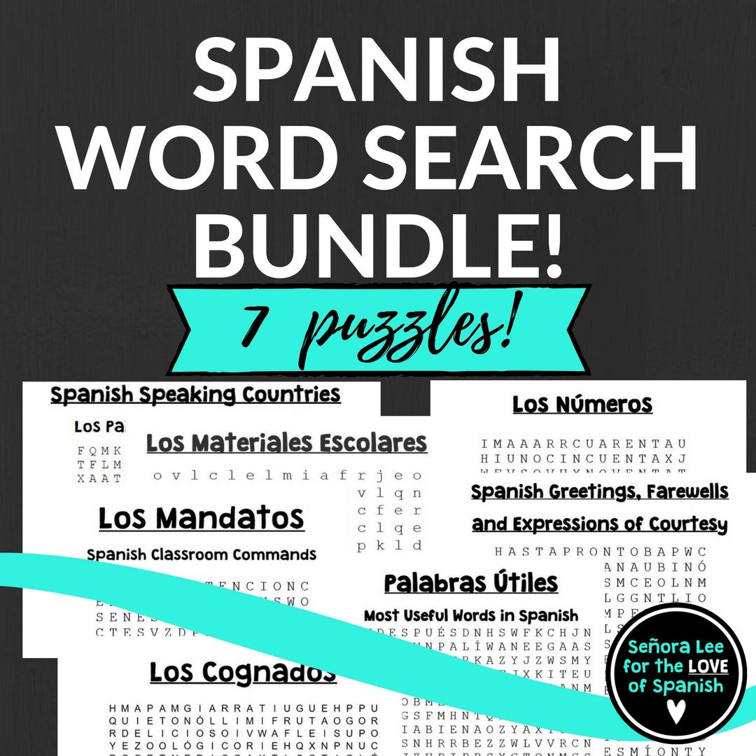 Spanish Word Searches 1
