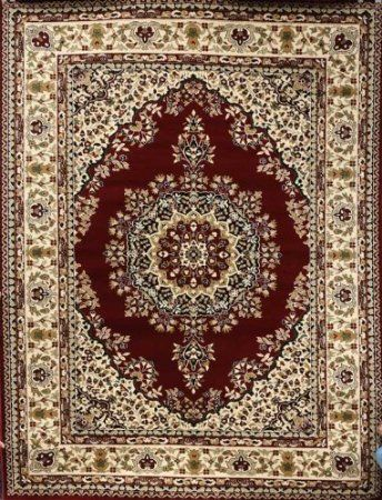 Burgundy Traditional Isfahan Wool Persian Area Rugs Closeout 5 2 X