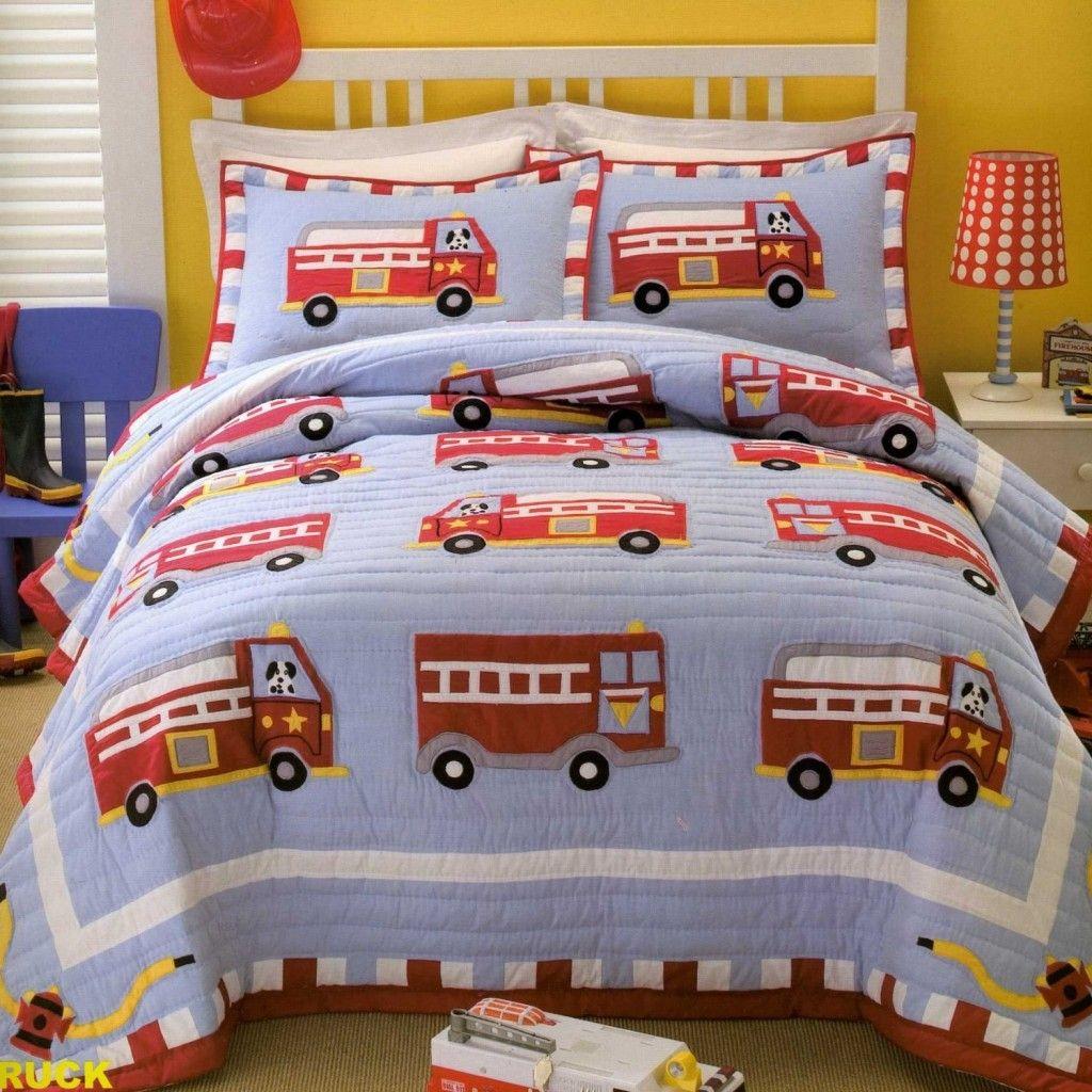Fire Truck Bedding Set Twin Size Bed Sets Bedding Sets Kids