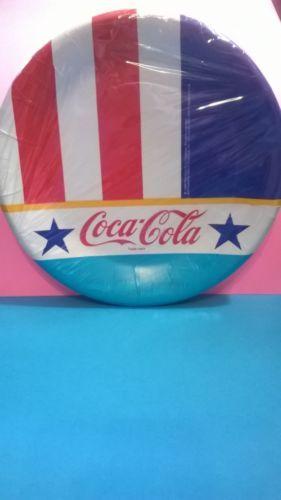 Coca-Cola-Party-Plates-1988-7-Inch-12-count-Coke-Plates-Vintage-Stars-Stripes