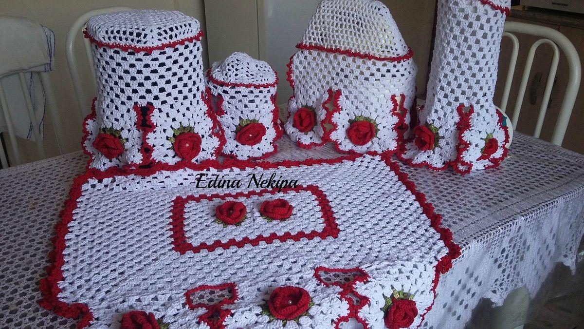 Kit Coxinha Kit Cozinha De Croche Bena Pinterest Kit Cozinha  ~ Como Fazer Conjunto De Cozinha