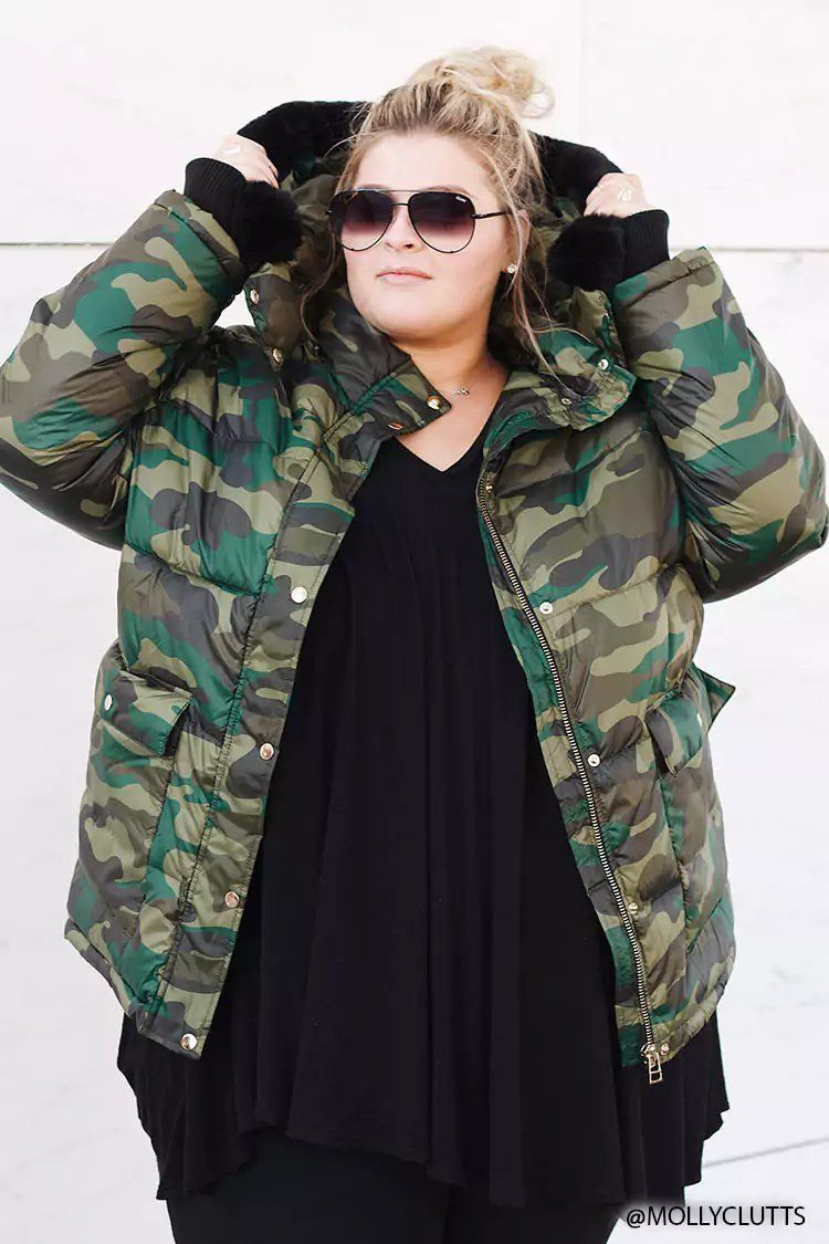 d4988a0526c60 Plus Size Camo Puffer Jacket | Forever21 | forever 21 | f21xme in ...