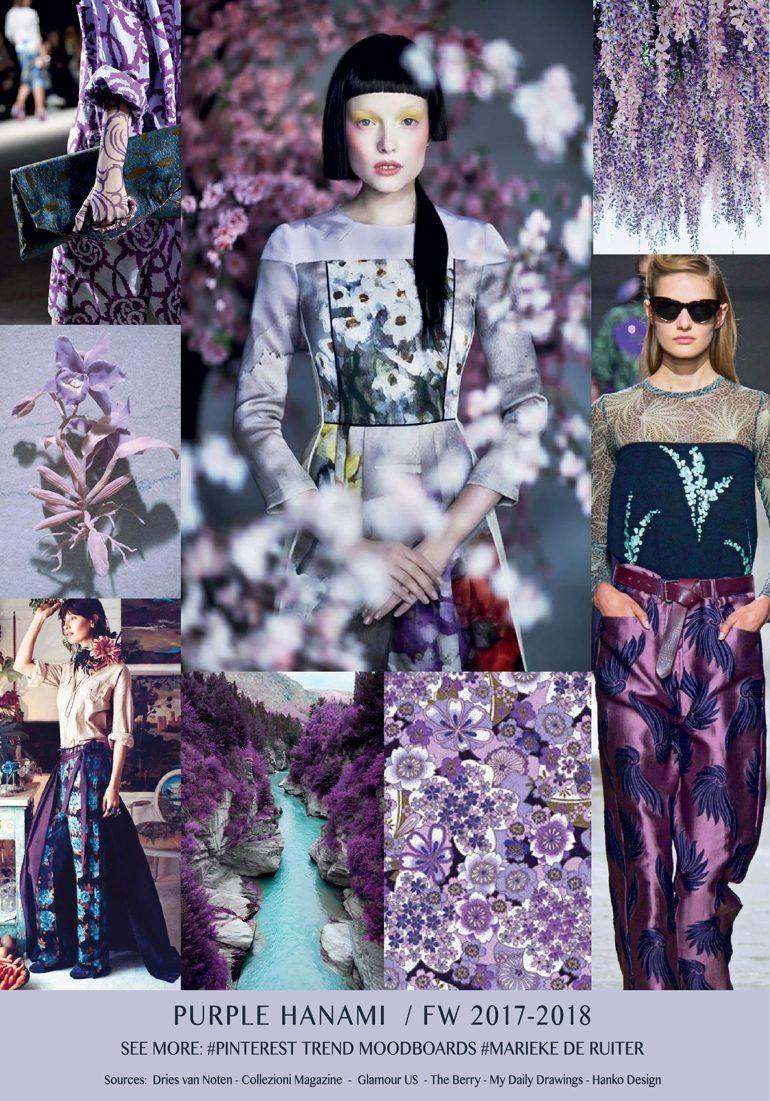 moodboard purple hanami trend a w 2017 pinterest mode farben und damenmode. Black Bedroom Furniture Sets. Home Design Ideas