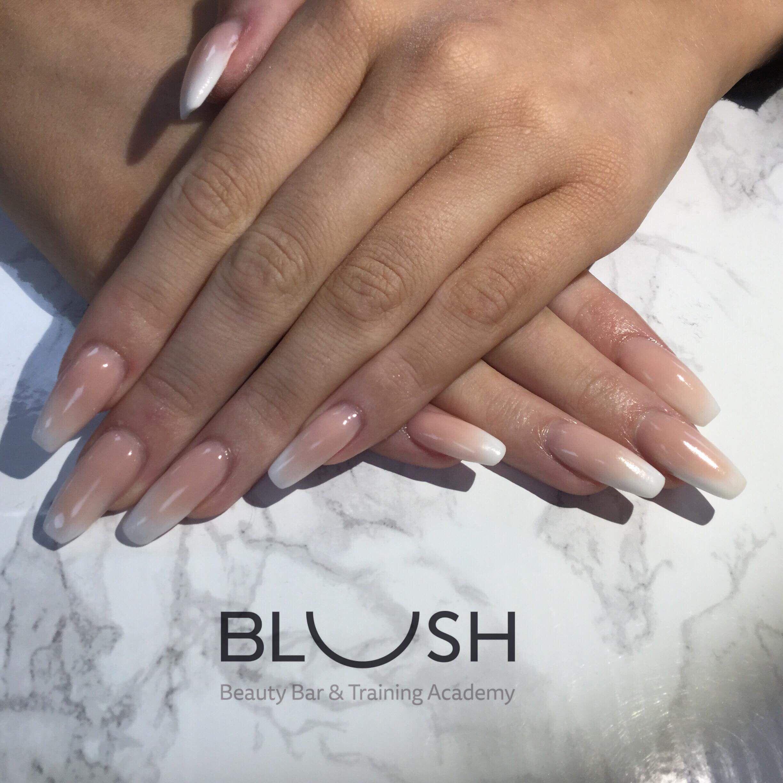Acrylics - new set - lovely ombre - blush bude | Nails | Pinterest ...