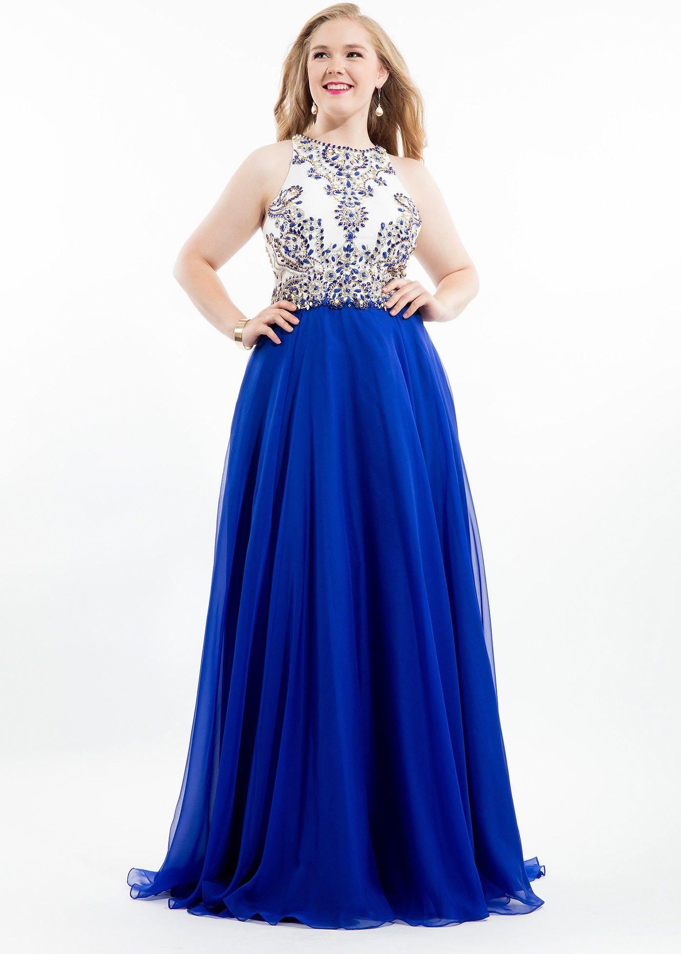 Rachel Allan 7424 Royal Racerback Chiffon Plus Size Dress   2016 ...
