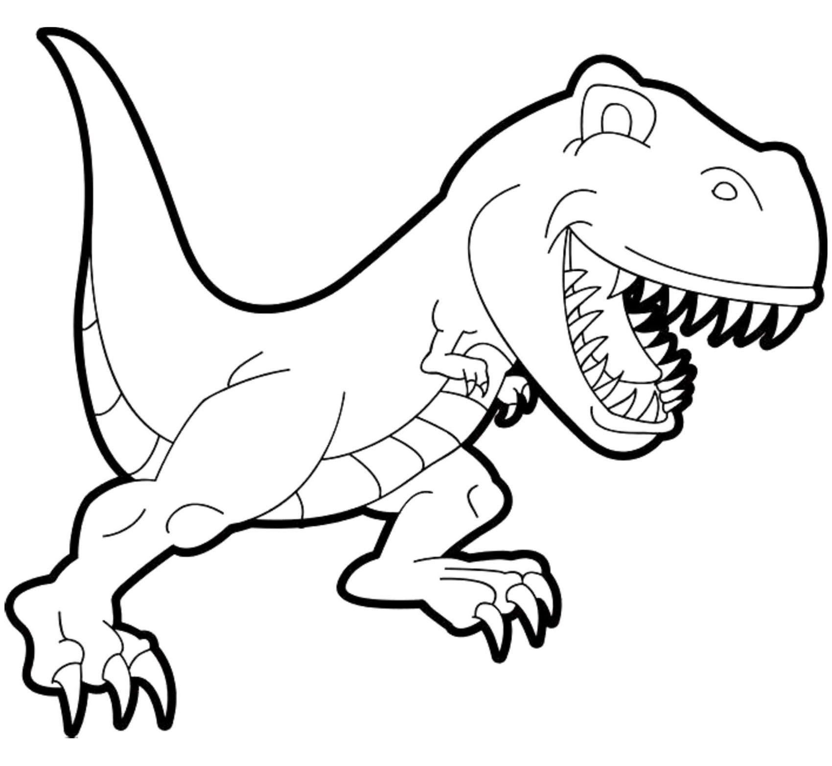 Coloring Pages Of Animals Dinosaurs Dengan Gambar Halaman Mewarnai