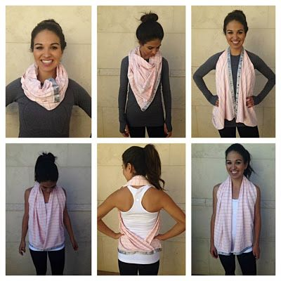 How to vinyasa wear scarf video