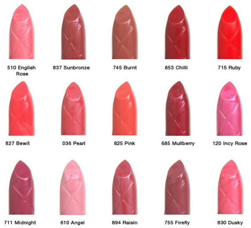 max factor lipstick colors