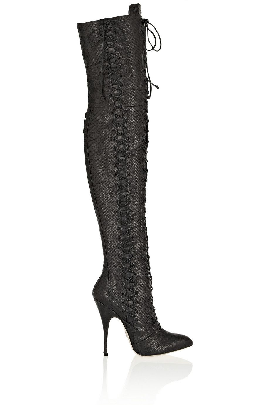 Belle python over-the-knee boots by Brian Atwood