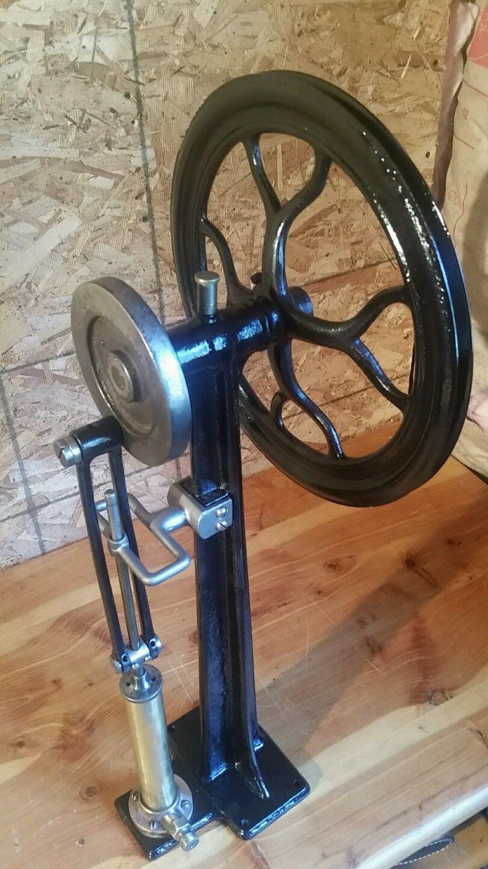 Antique Tire Air Compressor Medical Cast Iron Brass