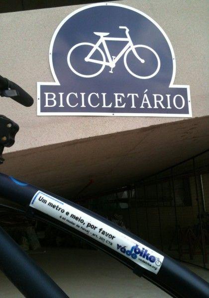 O Vá de Bike foi conferir o bicicletário instalado pelo Shopping Tucuruvi. Foto: Rachel Schein