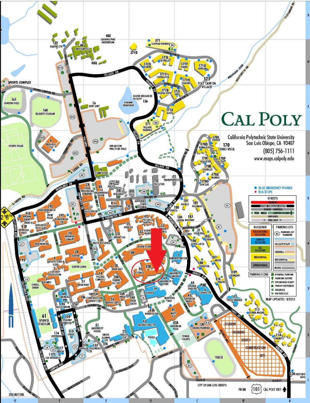 Cal Poly Slo Campus Map Pin by Shannon Schulman on Cal Poly SLO | California polytechnic