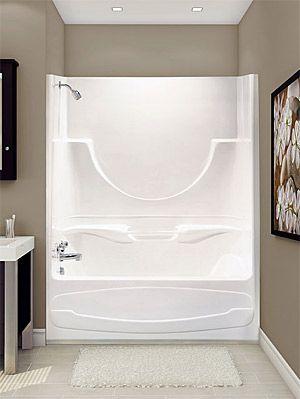 Merveilleux One Piece Shower Tub