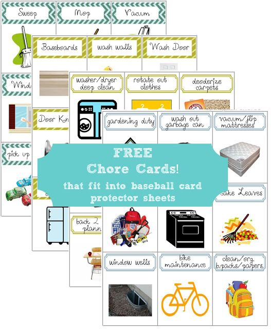 This is a picture of Printable Chore Cards throughout job