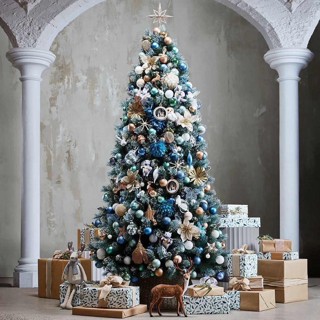 Snowy Cashmere Christmas Tree 7ft (T15) Cashmere