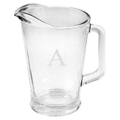 Personalized Monogram Glass Pitcher A Z Target