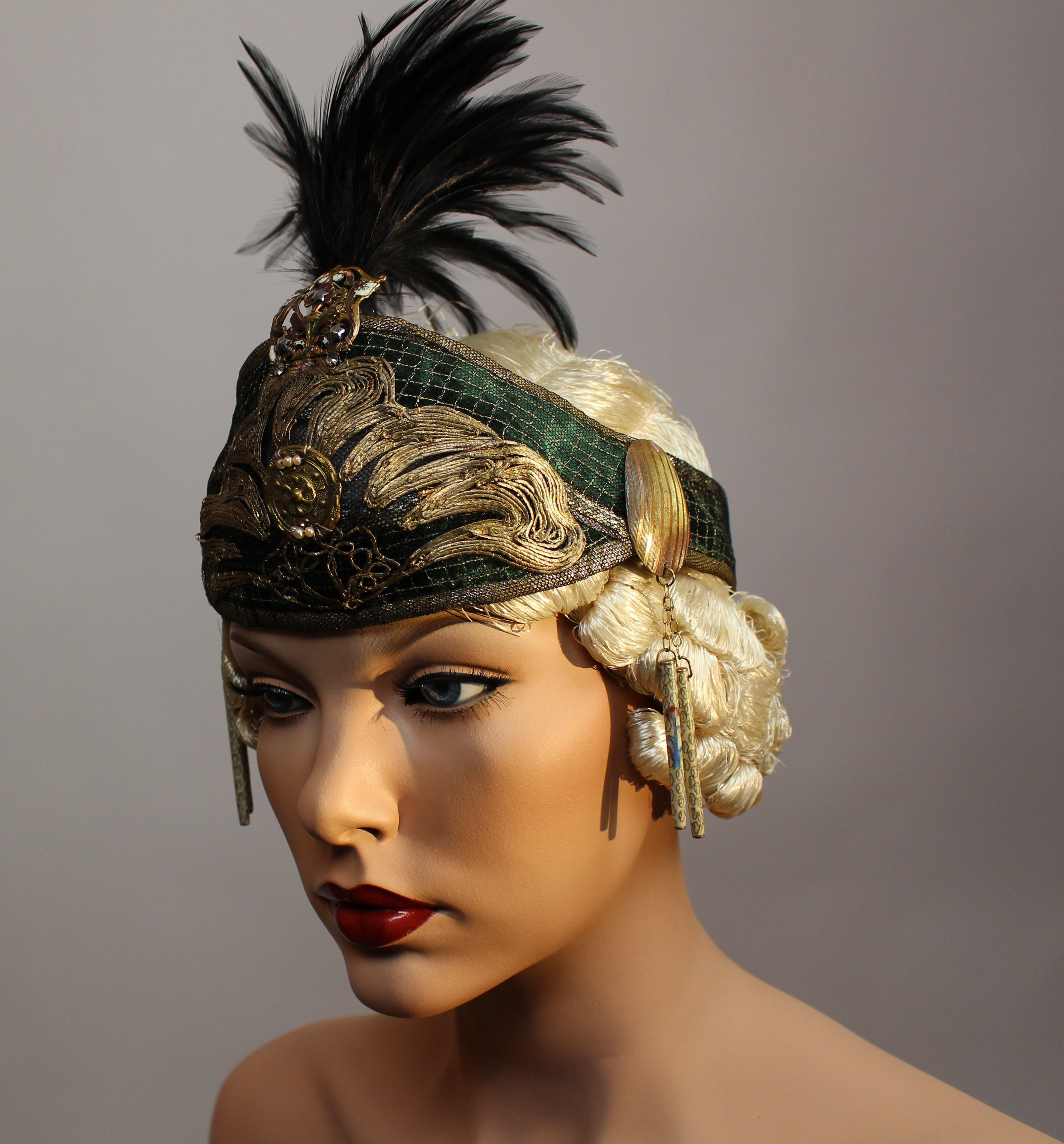 $1,200.00 Ornate Edwardian Plume Headdress Captivating Arabian style ...