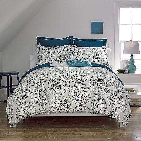 Medali Comforter Set & Accessories Blue/Green Multi thestylecure.com