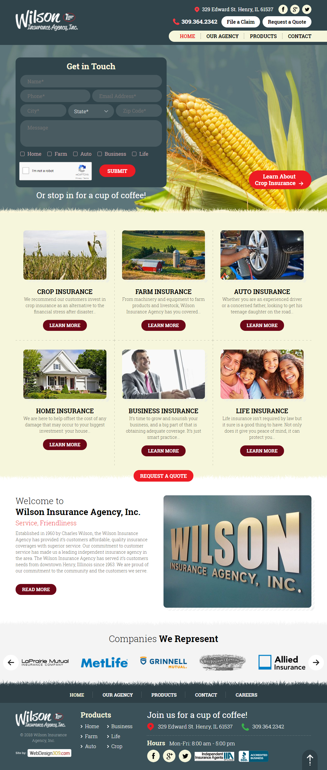 Established in 1960 by Charles Wilson, Wilson Insurance