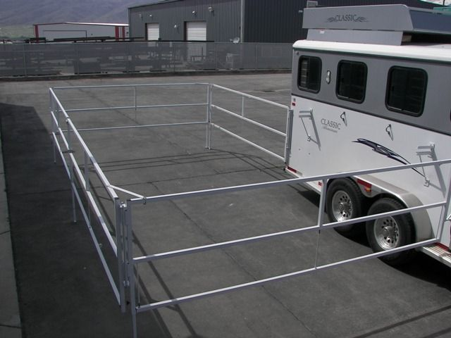 Horse Trailer World : Trailer Talk : Best New Portable Trail Corral that Attaches to your Trailer                                                                                                                                                      More