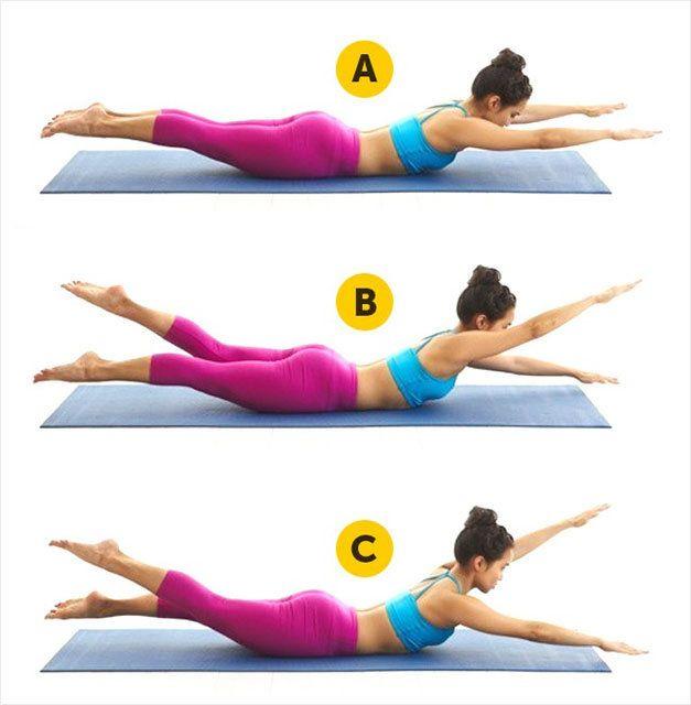Ellerinizi yanınıza uzatıp sırtüstü yatın. - Sayfa: 1 #fitnessexercisesathome