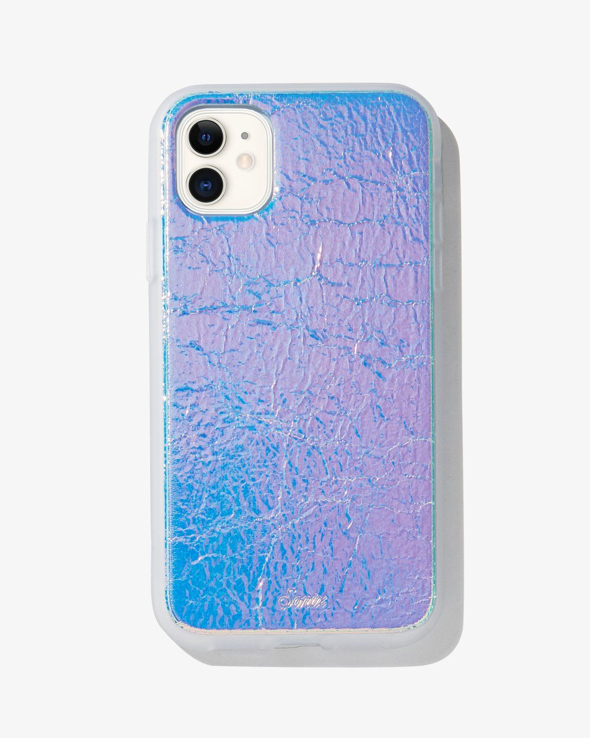 Holographic leather iphone 11 xr iphone phone cases