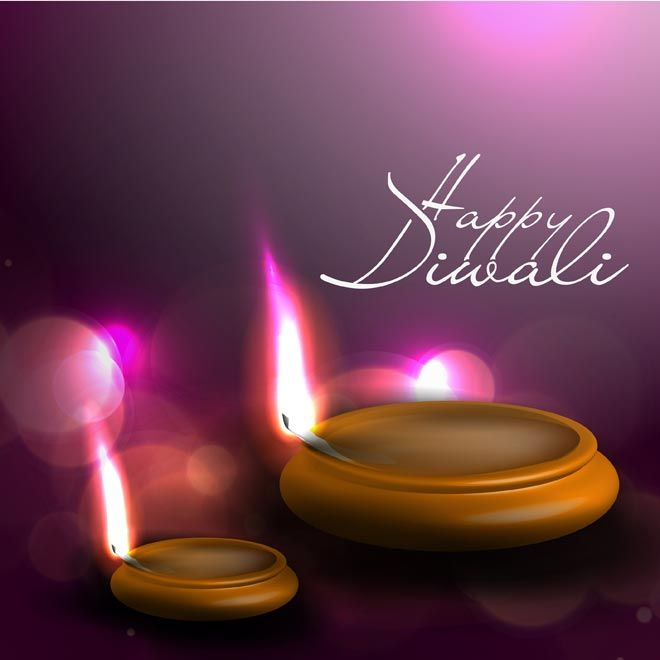 Abstract Glowing Flame On Pink Background Happy Diwali
