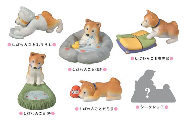 Shiba Inu figures at work http://www.cube-works.co.jp