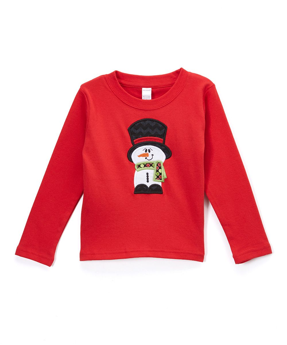 Red Top Hat Snowman Tee - Toddler