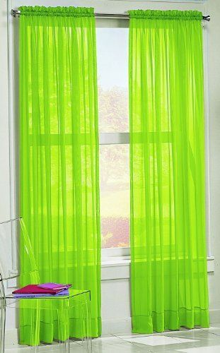 S Lichtenberg 59 By 63 Inch Calypso Curtain Panel Lime By S