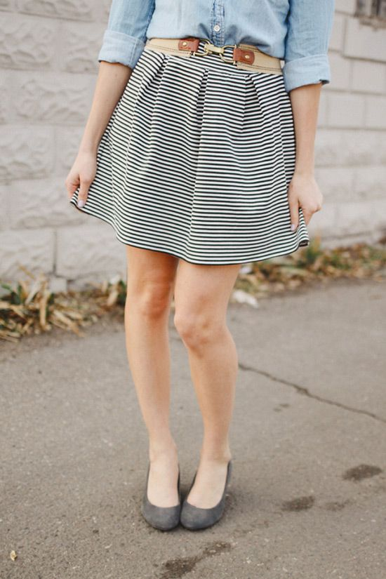 Pleated Knit Skirt from Sew Bon