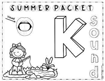 Summer Speech Packet (K, G, F, V, L, R, S) Sounds #