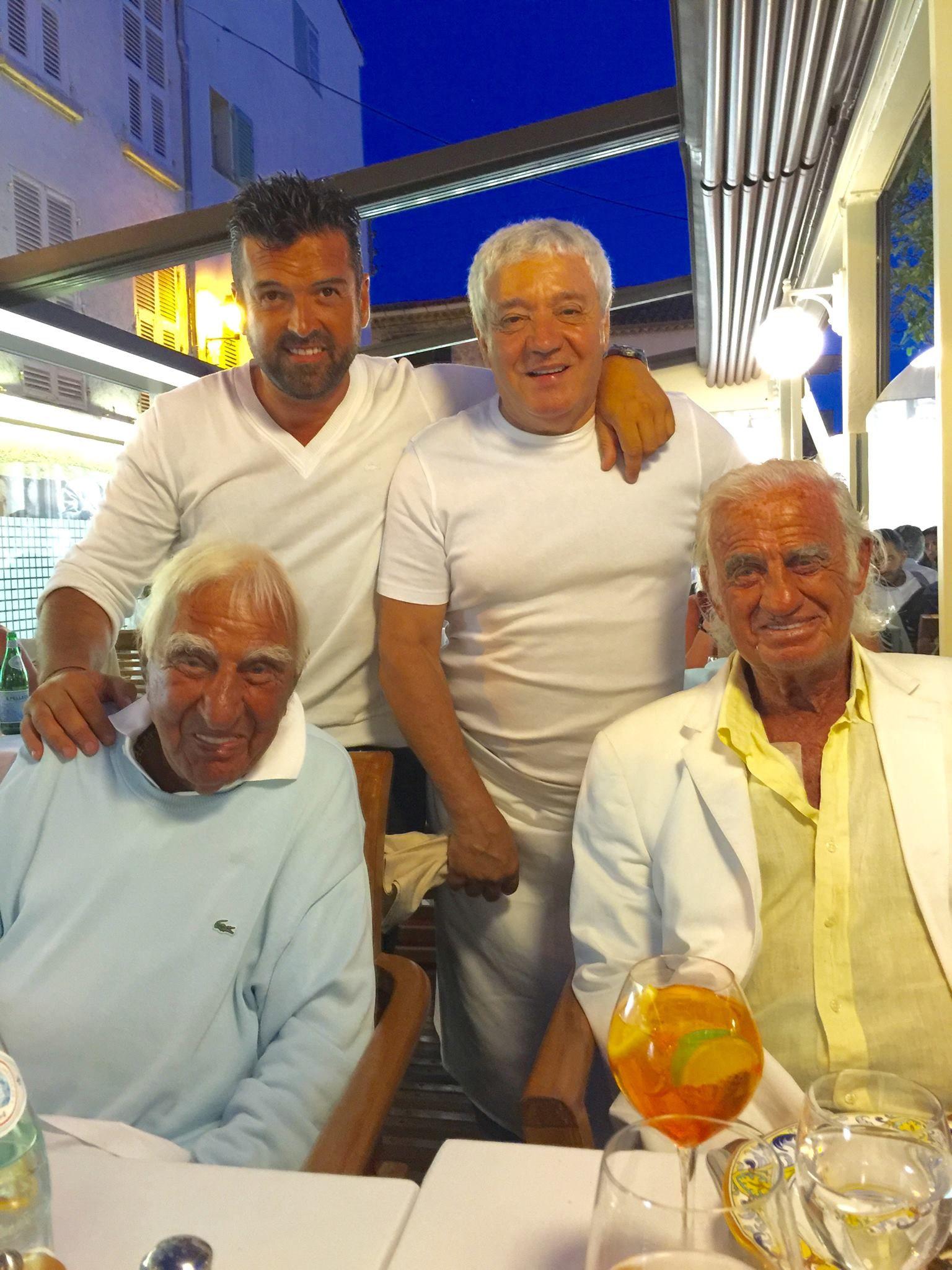 Jean- Paul Belmondo and Charles Gerard . Antibes . August 2016 .