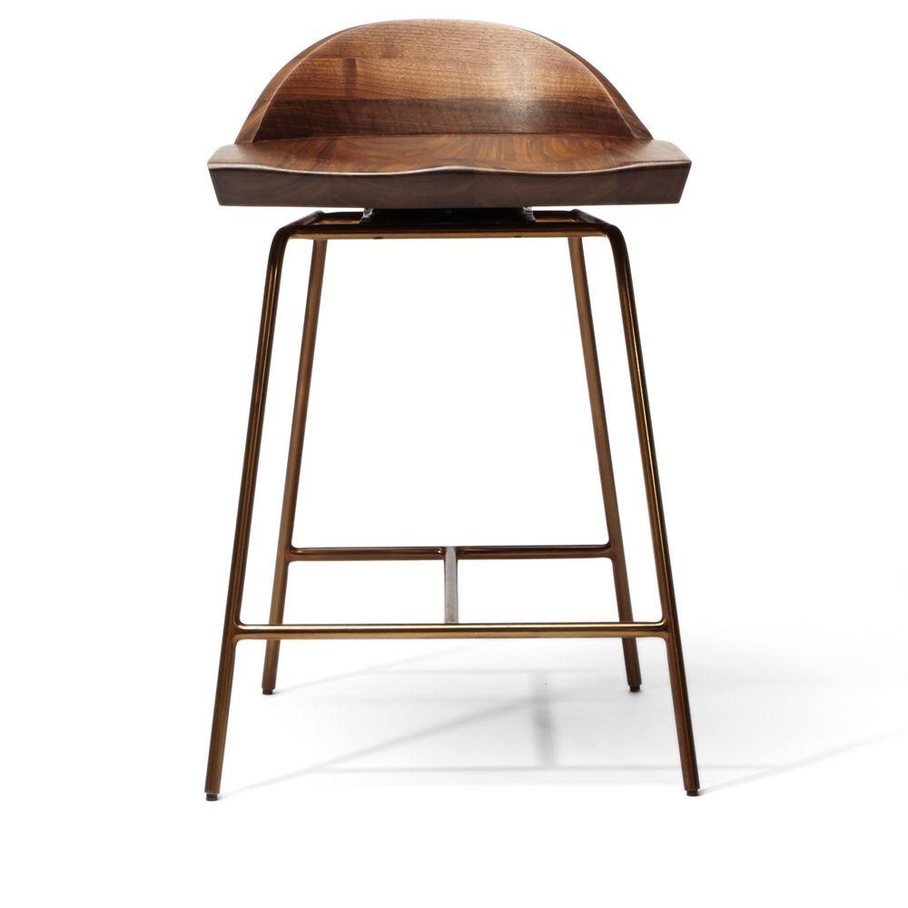 Spindle Chair Stool Bassamfellows Bar Counter Walnut