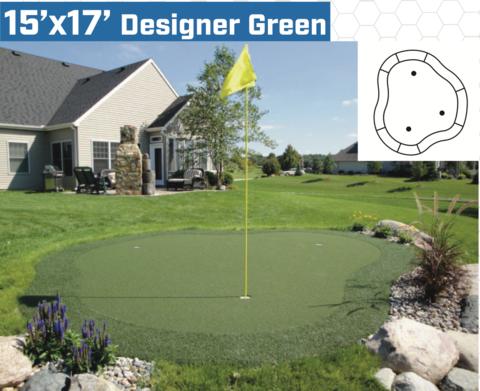 15 X 17 Diy Backyard Putting Green Backyard Putting Green Diy Backyard Green Backyard