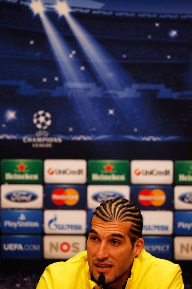 Goalkeeper, Jose Manuel Pinto speaks to the media during the FC Barcelona press conference prior to the UEFA Champions League match between Ajax Amsterdam and FC Barcelona at Amsterdam Arena on November 25, 2013 in Amsterdam, Netherlands.