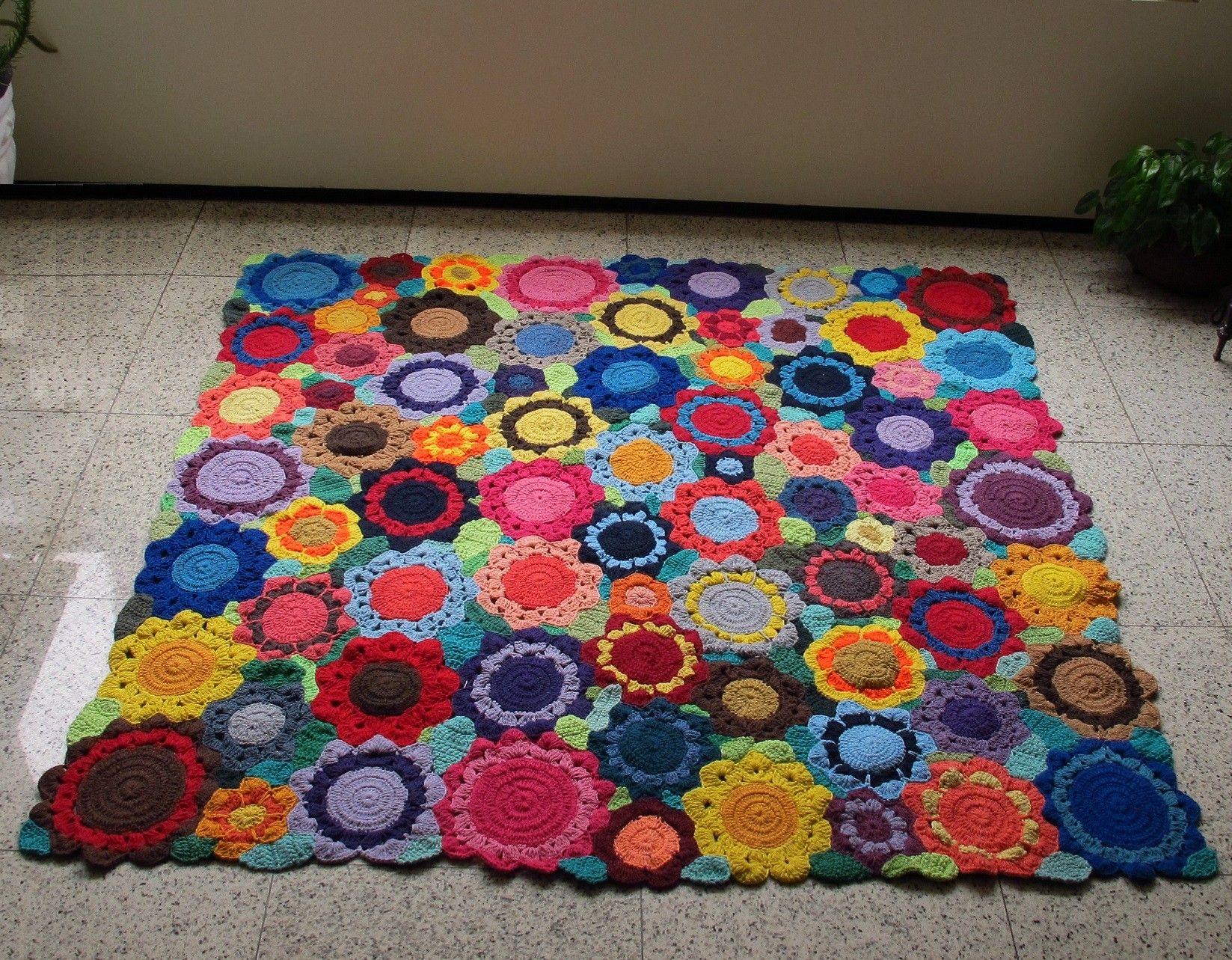 Tapete de croche barbante x 2011044 ideias for Tapetes de crochet