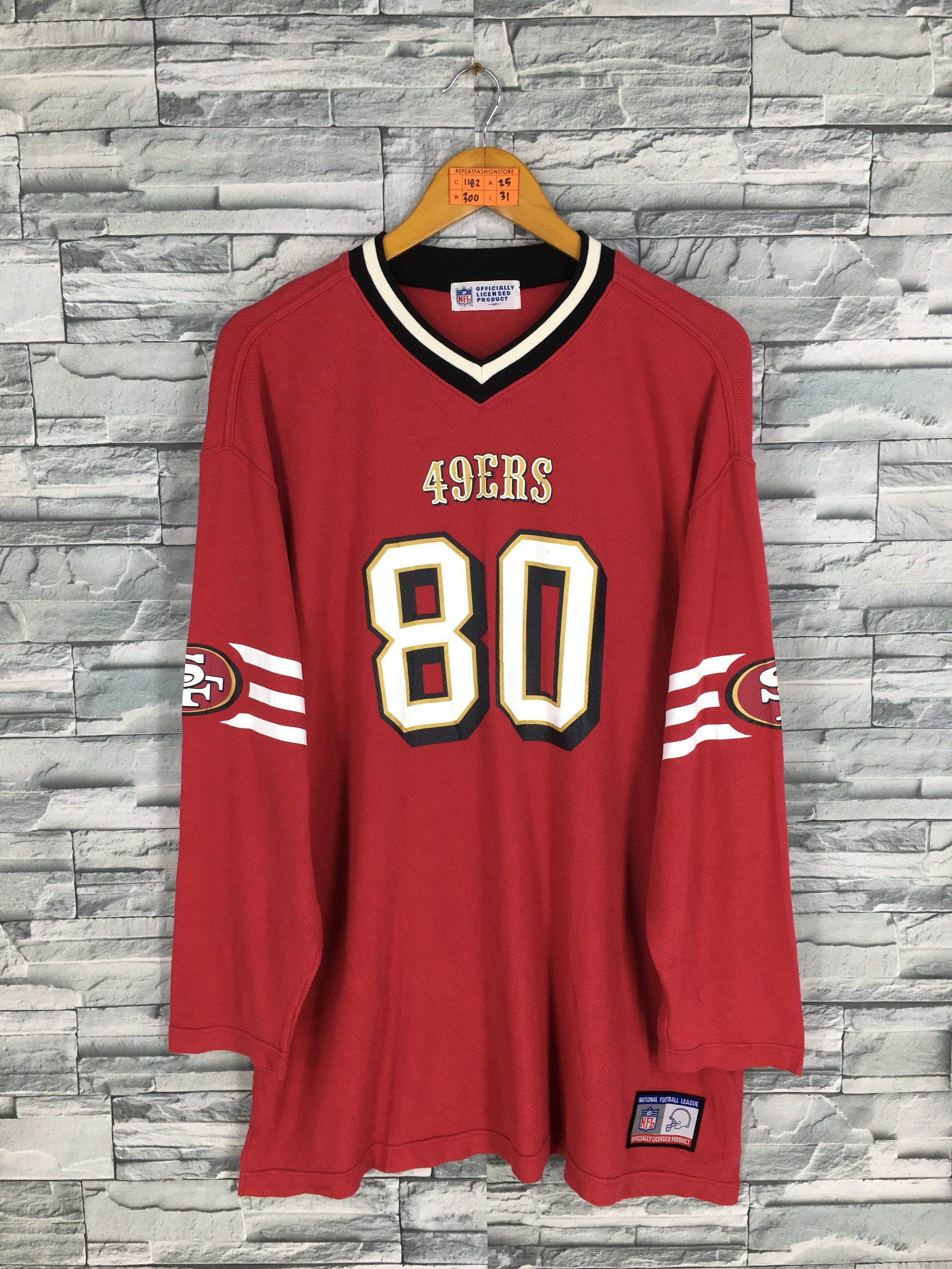 c7ade6612 Vintage San Francisco 49ERS Mens Jersey Medium #80 Jerry Rice 49ers NFL  American Rugby Football Sportswear Red Jersey Mens Size M by  REPEATFASHIONSTORE on ...