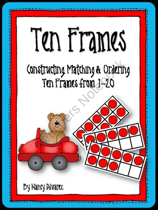 Ten Frame Activities (1-20) from Teaching With Nancy  on TeachersNotebook.com (35 pages)