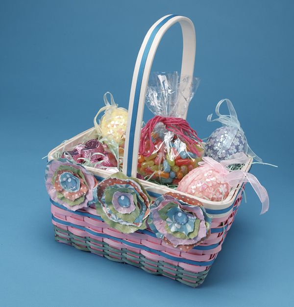 Paper flowers easter basket easter baskets easter and diy paper paper flowers easter basket mightylinksfo