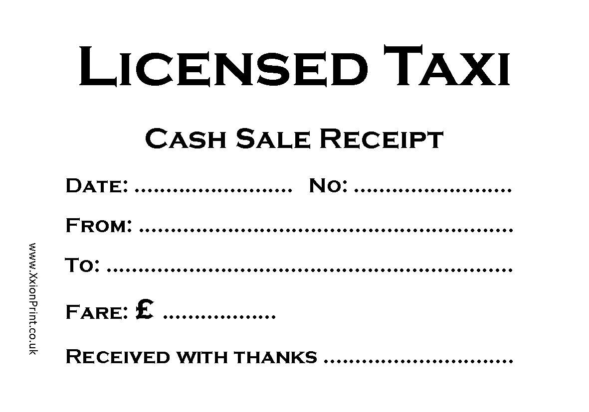 An Assortment Of 5 Pads Of Taxi Receipts Each Pad A Different Design Receipt Template Business Template Templates
