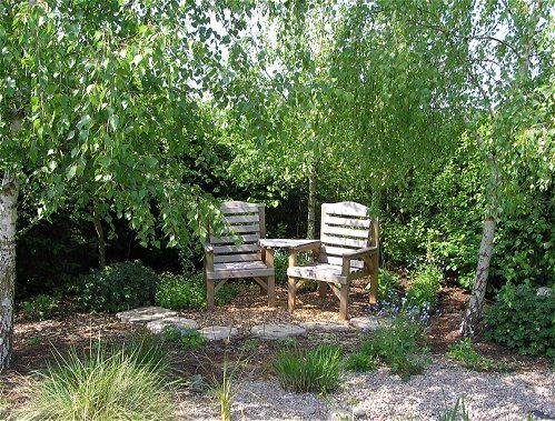 Garden seating areas bayleaf garden services woodland for Garden area ideas