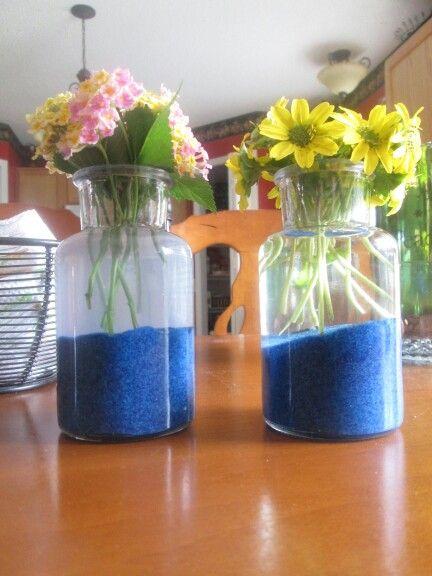 Diy sand flower vases