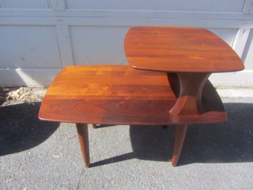 Exceptional Vintage Mid Century Danish Modern Solid Wood End Table 50s 60s Chambre